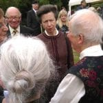 Princess Royal being presented to some of the relatives of the fallen