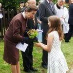 Princess Royal receives a posy