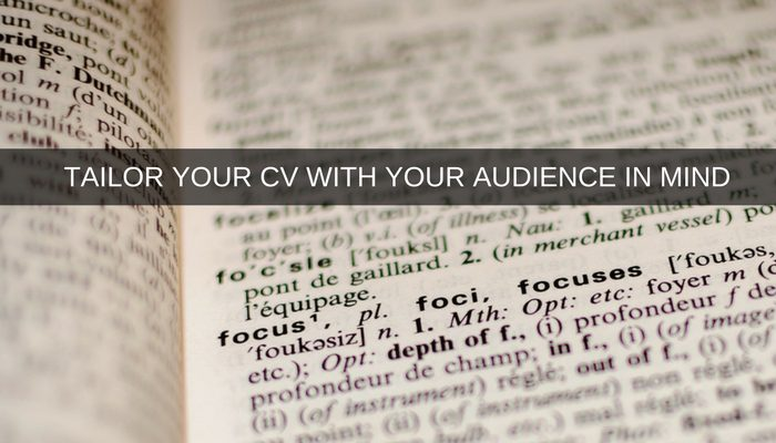 Write your Project Management CV with your target audience in mind