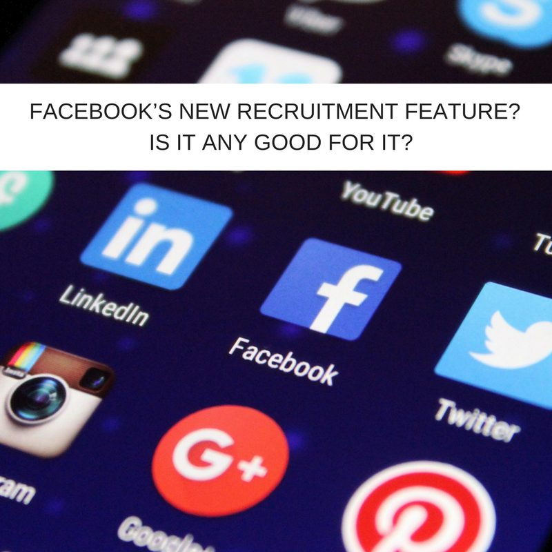 facebook recruitment feature any good for it